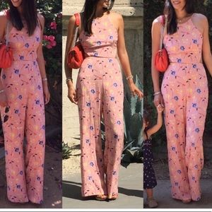Zara Floral open back jumpsuit